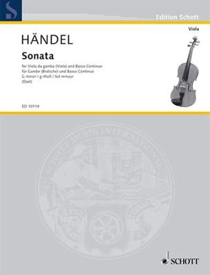 HAENDEL - Sonata g-moll - Partition - di-arezzo.fr