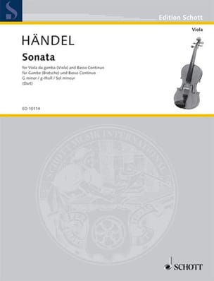 Georg Friedrich Haendel - Sonata g-moll - Partition - di-arezzo.fr
