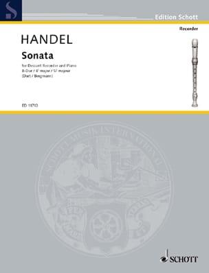 HAENDEL - Sonata B-Dur - Sheet Music - di-arezzo.co.uk