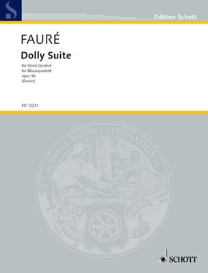 Dolly Suite - Wind quintet - Stimmen FAURÉ Partition laflutedepan