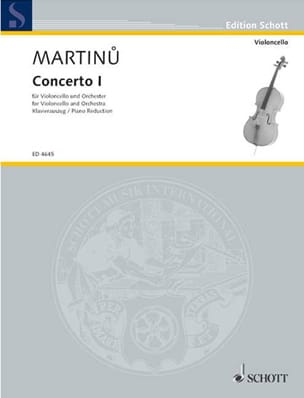 Concerto n° 1 - Cello MARTINU Partition Violoncelle - laflutedepan