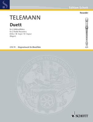 Georg Philipp Telemann - Duett für 2 Altblockflöten - Partition - di-arezzo.fr