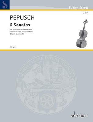 Sechs Sonaten - Johann Christoph Pepusch - laflutedepan.com