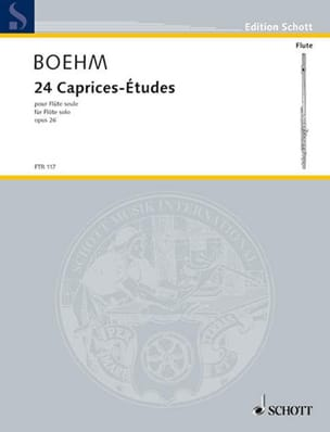 Theobald Boehm - 24 Caprices-Etudes op. 26 for flute alone - Partition - di-arezzo.com