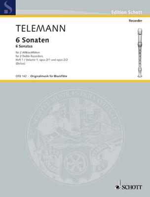 6 Sonaten für 2 Altblockflöten, Heft 1 op. 2/1-2 TELEMANN laflutedepan
