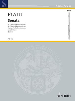 Sonate e-moll op. 3 n° 3 - Flöte und Bc laflutedepan