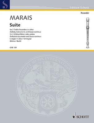 Suite C-Dur –2 Altblockflöten BC - Marin Marais - laflutedepan.com