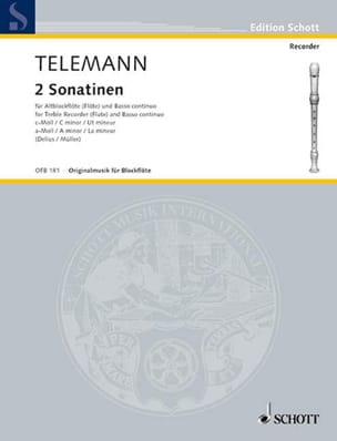 TELEMANN - 2 Sonatinen - Altblockflöte u. Bc - Sheet Music - di-arezzo.co.uk