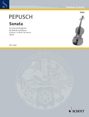 Johann Christoph Pepusch - Sonata in d minor - Viola - Sheet Music - di-arezzo.com