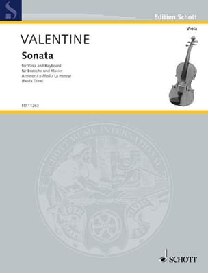 Sonata in A minor Robert Valentine Partition Alto - laflutedepan