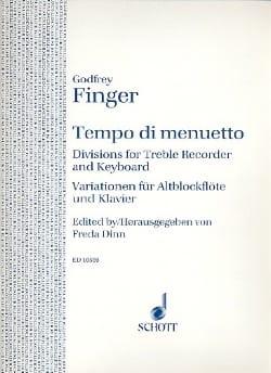 Tempo di Minuetto - Gottfried Finger - Partition - laflutedepan.com