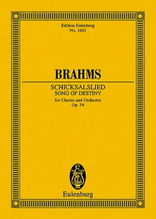 BRAHMS - Schicksalslied, op. 54 - Partition - di-arezzo.fr