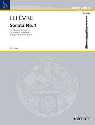Xavier Lefèvre - Sonata No. 1 for clarinet - Sheet Music - di-arezzo.co.uk