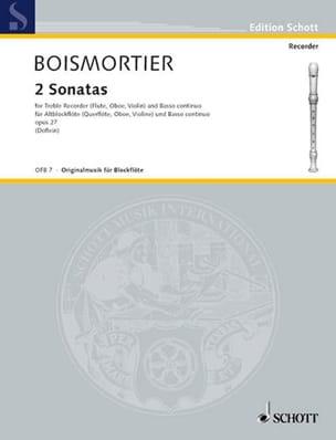 2 Sonaten aus op. 27 für Blockflöte BOISMORTIER Partition laflutedepan