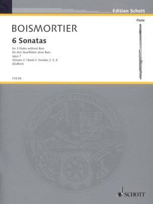 6 Sonaten op. 7 Bd. 2 - 3 Flöten BOISMORTIER Partition laflutedepan