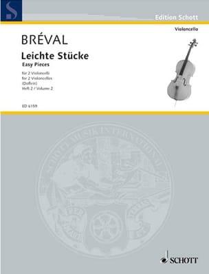 Leichte Stücke, Bd 2 - Jean-Baptiste Bréval - laflutedepan.com