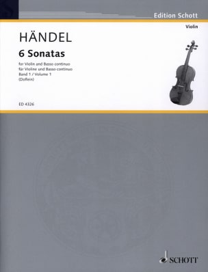 6 Sonaten Band 1 HAENDEL Partition Violon - laflutedepan
