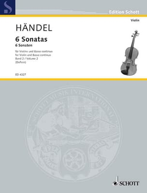 6 Sonaten Band 2 HAENDEL Partition Violon - laflutedepan