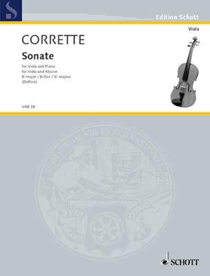 Sonate B-Dur CORRETTE Partition Alto - laflutedepan
