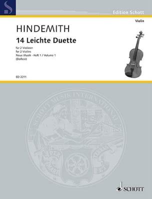 14 Leichte Stücke - 2 Violinen HINDEMITH Partition laflutedepan