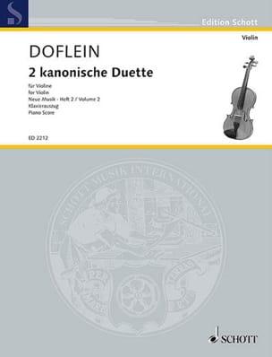Zwei Kanonische Duette - Hindemith Paul / Doflein - laflutedepan.com