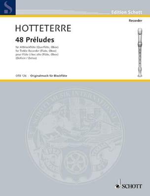 Jacques Hotteterre - 48 Préludes - Altblockflöte - Partition - di-arezzo.fr