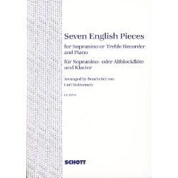 7 English pieces – Sopranino- o. Altblockflöte u. Klavier - laflutedepan.com