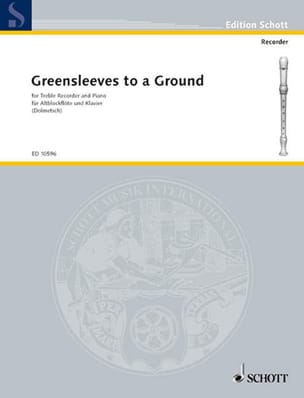- Greensleeves to a Ground - Altoblockflöte u. Klavier - Sheet Music - di-arezzo.co.uk