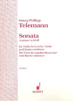 TELEMANN - Sonata A-moll - Viola - Sheet Music - di-arezzo.co.uk