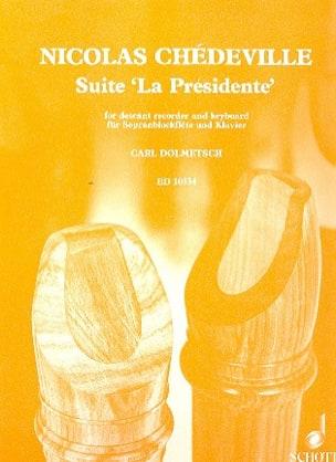 Nicolas (Le cadet) Chédeville - Suite La Présidente – Sopranblockflöte u. Klavier - Partition - di-arezzo.fr