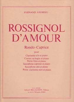 Fernand Andrieu - Rossignol d'amour - Clarinette - Partition - di-arezzo.fr