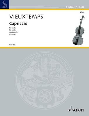 Henri Vieuxtemps - Capriccio op. posth - Sheet Music - di-arezzo.co.uk