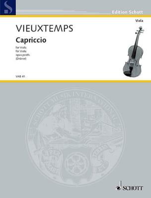 Henri Vieuxtemps - Capriccio op. posth - Partition - di-arezzo.fr