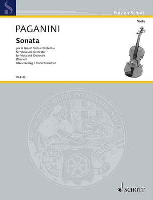 Niccolò Paganini - Sonata for the Grand Viola e Orchestra - Sheet Music - di-arezzo.co.uk