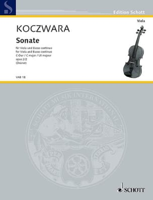 Franz Koczwara - Sonata in C major op. 2 n ° 2 - Sheet Music - di-arezzo.co.uk