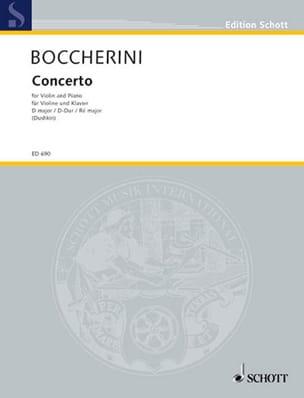 Luigi Boccherini - Concerto Violon en ré majeur - Partition - di-arezzo.fr