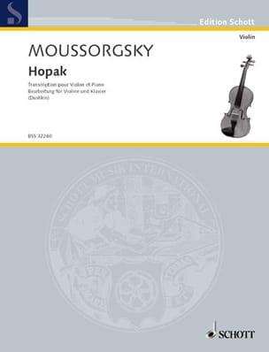 Hopak – Violon - Modeste Moussorgski - Partition - laflutedepan.com