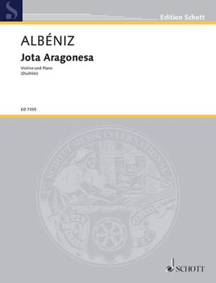 Jota Aragonesa - Isaac Albeniz - Partition - Violon - laflutedepan.com