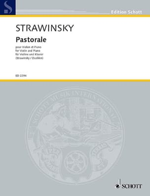 Igor Stravinsky - Pastoral - Violin - Sheet Music - di-arezzo.co.uk