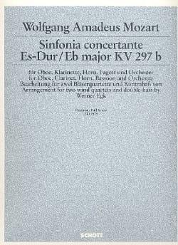 Wolfgang Amadeus Mozart - Sinfonia Concertante Mib M. Kv 297b-P.O. - Partition - di-arezzo.fr
