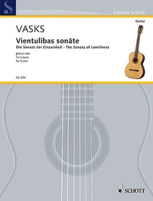 Péteris Vasks - Vientulibas sonate - Partition - di-arezzo.fr