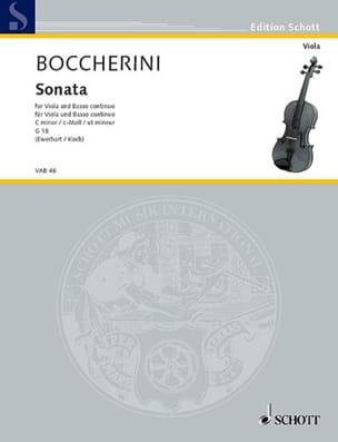 BOCCHERINI - Sonata C-Moll, G 18 - Viola - Partition - di-arezzo.fr
