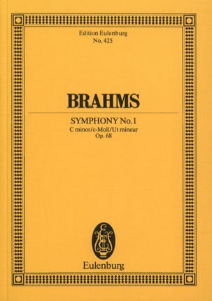 BRAHMS - Symphonie N° 1 C Minor Op. 68 - Conducteur - Partition - di-arezzo.fr
