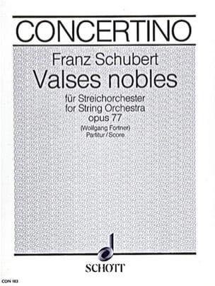 SCHUBERT - Valses Nobles, op. 77 - Streichorch. - Partitur - Sheet Music - di-arezzo.co.uk