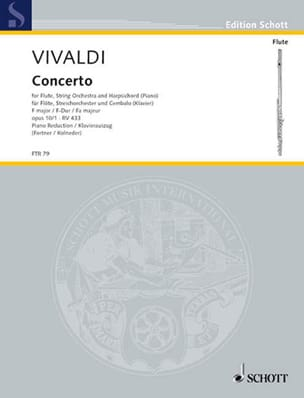 Antonio Vivaldi - Concerto en Fa Maj. - F. 6 n° 12 La Tempesta di Mare - Flûte/Piano - Partition - di-arezzo.fr