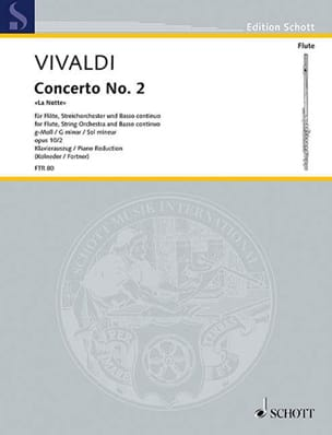 VIVALDI - Concerto in min. - F. 6 n ° 13 The Notte - Flute / Piano - Sheet Music - di-arezzo.com
