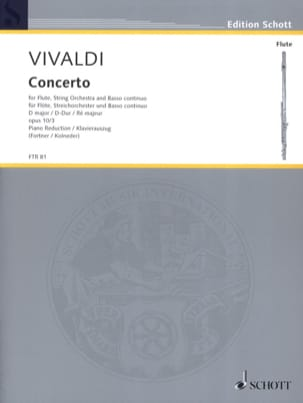 VIVALDI - Concerto in D Maj. - F. 6 No. 14 Il Gardellino - Flute / Piano - Sheet Music - di-arezzo.co.uk