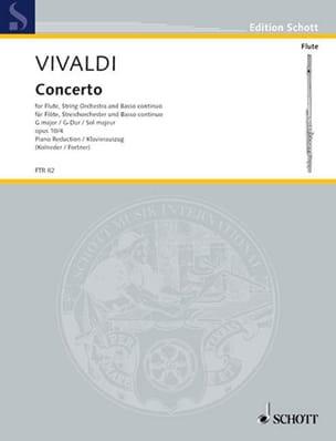 VIVALDI - Concerto G-Dur op. 10 n° 4 - Flöte Klavier - Partition - di-arezzo.fr