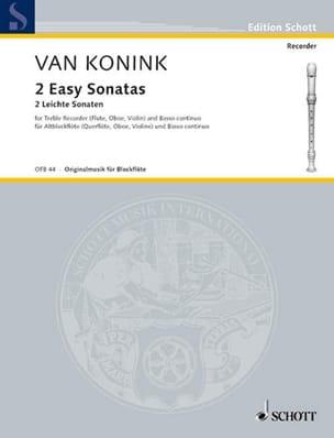 2 Leichte Sonaten - Altoblockflöte u. Bc - laflutedepan.com
