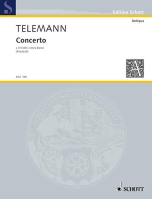 TELEMANN - Concerto - 4 Violins Without Bass Twv40: 204 - Sheet Music - di-arezzo.co.uk